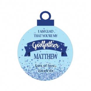 Godfather Acrylic Christmas Ornament Decoration